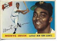 1955 Topps #100 Monte Irvin card, Newark Eagles HOF