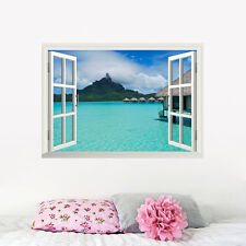 Ocean Natural Beauty 3D Window Wall Sticker Art Vinyl Decals Mural Study Decor