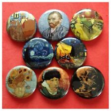 "VINCENT VAN GOGH 1"" buttons badges STARRY NIGHT TERRACE"
