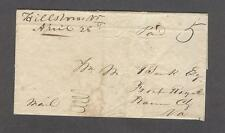 """Hillsboro Va. April 28th"" 1846 Loudoun County H. McVeigh writes to Wiliam Bank"
