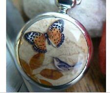 Cadeaux de Noël x-mas collier papillon argenté terrestre watch cadeau fille