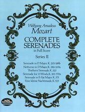 Mozart Complete Serenades Full Score Series II Learn to Play Ensemble Music Book