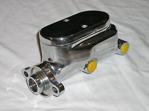 Chrome Aluminum Flat Top 4 Port Brake Master Cylinder GM Chevy Ford street rod