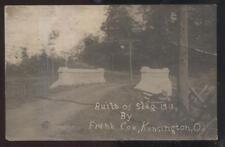 REAL PHOTO Postcard KENSINGTON Ohio/OH  Local Area New Slag Bridge 1913