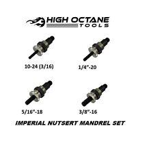 Imperial Nutsert Mandrel set 3/16 1/4 5/16 3/8 set to suit Pro Rivnut Tool