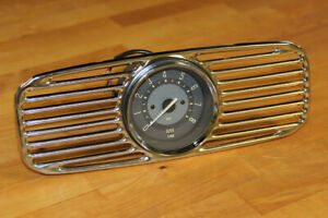 VW TYPE 1 1953-1957 ZWITTER & OVAL ACCESSORY TACHOMETER & DASH GRILL COMBO BEIGE