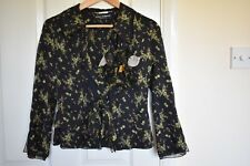 Dolce & Gabbana (D&G) Floral Blouse Top Jacket (Size UK8/IT40/XS)