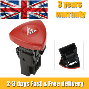 For VAUXHALL LAGUNA VIVARO TRAFIC RENAULT HAZARD WARNING LIGHT SWITCH 93856337 .