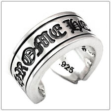 Authentic [Chrome Hearts] CH Scroll Label Ring, All Size Available