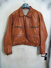 VINTAGE WW2 GERMAN HARTMANN LEATHER FLYING JACKET SIZE L BSC ZIPS TWEED LINING