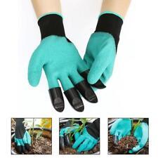 NEU Garten-Handschuhe mit 4 ABS Kunststoff-Krallen for Garten graben Pflanzen~