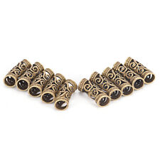 10 PCS Hair Braid Beads Dreadlock Bead Cuff Clip Metal Hair Braid Ring Silveyu