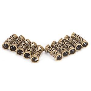 10 PCS Hair Braid Beads Dreadlock Bead Cuff Clip Metal Hair Braid Ring Silver_TC
