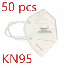 KN95 Respirator Face Mask Raxwell RX9501 Approved & Whitelisted BFE 99% 50 Pack