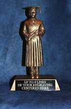 """Graduation Trophy - Large 9"""" Gold Resin Male Graduate -  Free Engraving!!"""