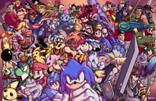 Ultimate Super Smash Bros Poster No Frame Poster, Home Decor Wall Art Poster