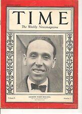 Time Magazine July 4, 1927 Giuseppe Mario Bellanca