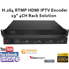 "19"" Rack Solution H.264/AVC HDMI Video Encoder for RTMP live stream Broadcast"