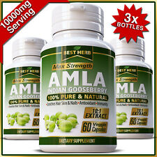 AMLA HIGH VITAMIN C IMMUNE SYSTEM SUPPORT PILLS CAPSULES PURE INDIAN GOOSEBERRY