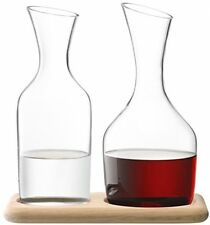 LSA International 1.4 Litre Wine Water and Carafe Set With Oak Base Clear