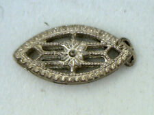 Antique Marquise Sterling Silver Filigree 1 Row CLASP Catch Pearl Bead #EST530