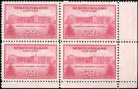 Mint NH Canada Nfdland 1943 Block of 4 VF 30c Scott #267 University Stamps
