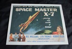 "CINEMA LOBBY CARD POSTER. 1958 Sci-Fi Movie 'Space Master X-7' 11.5"" x 9.5"""