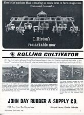 1962 Dealer Print Ad of John Day Rubber & Supply Lilliston Rolling Cultivator