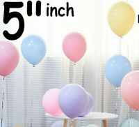 Packs of 100 Pastel Latex Balloons 5 Inch Pastel Colours High Quality Baloons