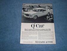"1963 Studebaker Lark Daytona Hardtop Vintage Ad ""Q Car"""