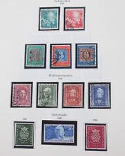 Bundesrepublik 1949/94 gestempelte Sammlung in 2 Alben sehr hoher Katalogwert