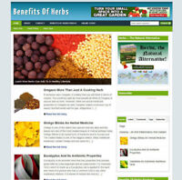 IMPORTANCE OF HERBS UK AFFILIATE WEBSITE + DOMAIN & HOSTING FULLY STOCKED