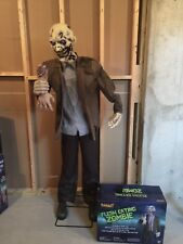 Spirit Halloween 6' Flesh Eating Zombie Prop - with box Animatronic