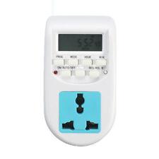 Timer 220V Multi-functional Outlet Switch EU Plug Home Socket LCD Digital Timing