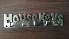 HOUSEKEYS WRITTEN SILVER metal Key Holder Hanger Storage Home Office Decor Hang