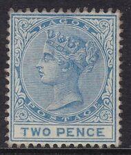 """LAGOS 1876-79 """"CC"""" 2D BLUE, MINT, PART GUM, CAT £80"""