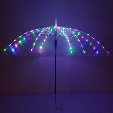 New! LED light up belly dance club wear glow show cosplay multi-color umbrella