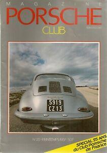 PORSCHE CLUB 20 1987 PORSCHE 356 B T6 CABRIOLET 1962 356 CARRERA COUPE 1961 SUTT