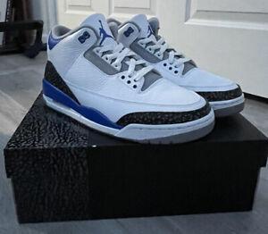 Size 9.5 - Jordan 3 Retro Racer Blue 2021