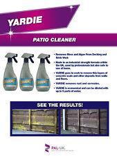 Yardie Mould Algae Moss Killer Remover Bricks Decking Paths Fencing 5L or 10L