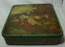 OLD VINTAGE UNIQUE PARLIS GLUCO BISCUITS TIN BOX COLLECTIBLE