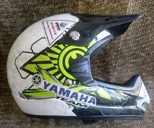 BRP Pro Stock Racing Team white black & green Motocross ATV Helmet Sz M 57-58cm