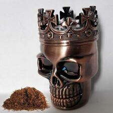 Metal Skull Magnetic Grinder Tabacco Spice Crusher SharkTeeth 45mm 3pc Herb A GL