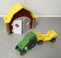 BRIO Barn Shed and Tractor with Trailer