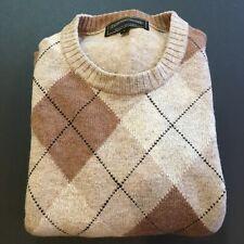 James Pringle Crewneck Medium Wt Argyle Sweater Men's Large 100% Lambswool