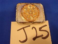J25 VINTAGE CHROME & GOLD TINT PRESIDENTIAL SEAL BELT BUCKLE STATES OF AMERICA