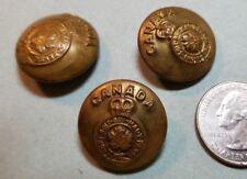 3 VINTAGE ROYAL CANADIAN GENERAL SERVICE BRASS UNIFORM BUTTONS