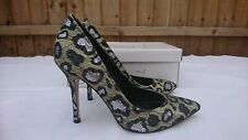 Topshop Womens Leopard Multi Court Shoes Size UK 5 38 Boxed Never Worn