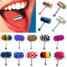 Unique Punk Vibrating Tongue Bar Ring Stud Body Piercing Jewelry + Batteries FT