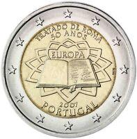 Portugal 2 Euro 2007 Römische Verträge Gedenkmünze Prägefrisch